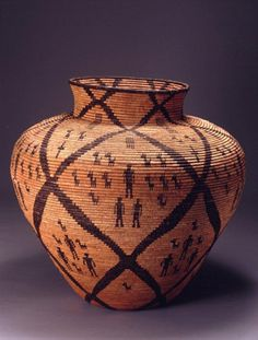 White Mountain Apache Jar, from the Catherine Marshall Gardiner Collection, Lauren Rogers Museum of Art, Laurel, Mississippi. Native American Baskets, Native American Art, Apache Indian, Indian Art, Weaving Art, Art Google, Art Museum, Photo Art, Nativity