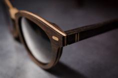 Wood wafer glasses... Just see and cry wooden glasses frames