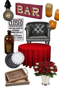 1920s Speakeasy Decor ideas. Find more inspiration for a Speakeasy party theme at http://sparklerparties.com/speakeasy/