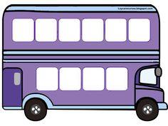 He realizado estos autobuses para colocar en cada uno de ellos las decenas. En total he elaborado 10 autobuses de diferentes colores, para d...