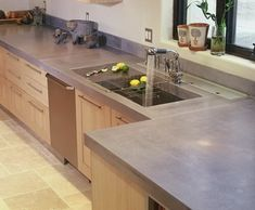 Looking for concrete countertops examples and ideas? Here is part one of a series of 95 pictures to give you some great ideas for your bathroom or kitchen. Tough and very reliable a concrete countertop keeps getting further into today's modern home designs. Concrete is finding it's way as a kitchen and bathroom countertop surface … … Continue reading →