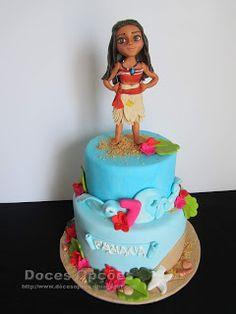 Doces Opções: Bolo de aniversário Vaiana Birthday Cake, Desserts, Food, Birthday Cakes, Sweets, Tailgate Desserts, Deserts, Essen, Postres