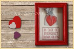 Valentine Gift - Funny Emergency Case - Bag of Love, Valentine Decor, Funny Valentine, Gift for Men, Gift for Women, Gift for Her, Rusteam