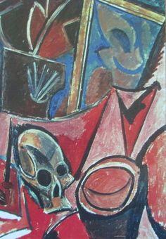 Komposition mit Totenschädel PABLO PICASSO Kunstdruck Reproduktion Surrealismus
