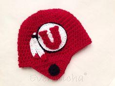 Utah Utes Helmet Beanie on Etsy, $30.00