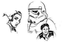 Fun with Star Wars and a brush pen!
