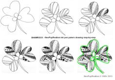 Art lesson plans: NeoPopRealism ink pen pattern drawing grades 3-5, 6-8, 9-12