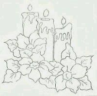 Resultado de imagen para pintura en tela navidad moldes - Dibujos navidenos para pintar en tela ...
