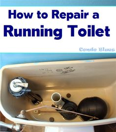 Condo Blues: How to Fix a Running Toilet. How to replace the flapper, handle, flusher, and float arm on a running toilet. Looks easy.