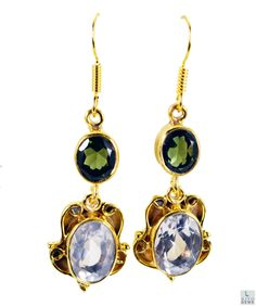 #Multi #gemstone Gold Plated #Fashion #Earring #Artificial #RiyoGems