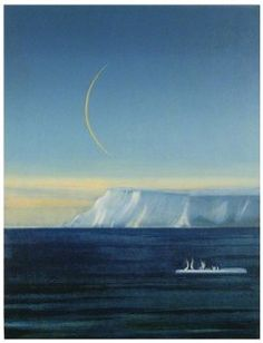 Rudolf Steiner, Illustration Art, Illustrations, Great Artists, Norway, Waves, Moon, Paintings, Outdoor
