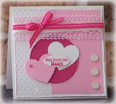 swiss dots and hearts card