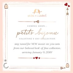 The Valentine's Day Collection is on its way! Follow my fb page @adrienne49plus to get all the latest updates on Chloe + Isabel. Shop the entire collection in my online boutique anytime: www.chloeandisabel.com/boutique/adrienne49