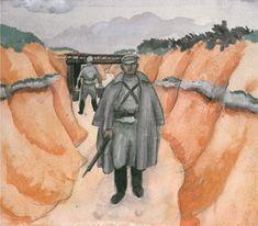 Jāzeps GROSVALDS | Latvian | Latvia 1891 –  Paris, France 1920 | Post-Impressionism, Modernism. Satiksmes eja (Traffic lane), 1917
