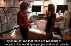 Lyric people and music people