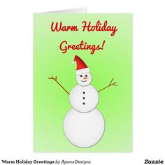 Explore the amazing selection of Christmas cards on Zazzle. Send your season's greetings in a range of styles, shapes and sizes. Christmas Snowman, Christmas Cards, Christmas Ornaments, Holiday Greeting Cards, Shapes, Seasons, Warm, Holiday Decor, Design