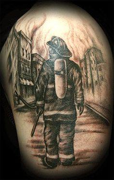 Firefighter Men Of Fire Tattoos