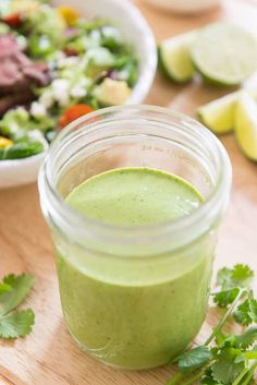 Cilantro Lime Dressing - Easy Recipe, takes 5 minutes Western Dressing Recipe, Ranch Dressing Recipe, Avocado Cilantro Lime Dressing, Cilantro Lime Sauce, Southwest Salad Dressings, Lime Recipes, Chili Lime, Easy