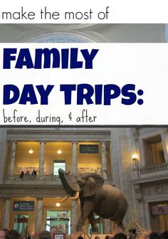 Learn how to make the most of a day trip to museum, farm, or amusement park. Try these before, during, and after activities! #weteach #familytrips #fieldtrips #daytrips #kidsactivities #familyactivities #teachmama