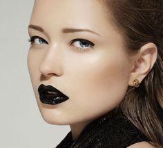 black lipstick.