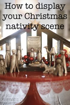 This handmade Christmas nativity scene will be the centerpiece of your Christmas decor! Christmas Nativity Scene, Little Christmas, Country Christmas, Winter Christmas, Nativity Scenes, Christmas 2014, Merry Christmas, Christmas Projects, Christmas Ideas