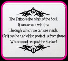I'm not tattooed, I'm inked!