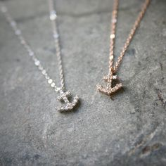 Rose Gold Anchor Chain Necklace at Kellinsilver.com