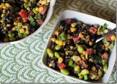 Black Bean and Edamame Salad
