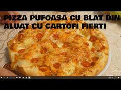 Cea mai buna pizza de casa pufoasa cu blat din aluat cu cartofi fierti - YouTube Stromboli, Calzone, Pizza, Biscotti, Quiche, Restaurant, Mai, Breakfast, Food