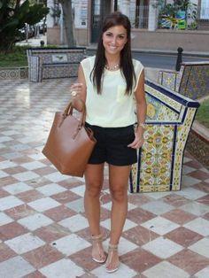 andtrendydreams Outfit   Verano 2012. Combinar Shorts Negros H