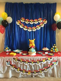 Our Pokemon cake table!