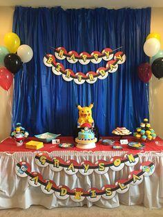 Our Pokemon cake table!