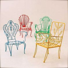 Anthropologie's colorful iron chairs