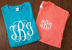 Monogram T-shirt  Vine Monogram  Pocket Vine by Createdinthasouth