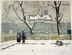 Tavik František Šimon [1877-1942, Czech] 'Quai d'Anjou, Paris', 1923