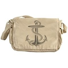 Awesome Vintage Anchor Messenger Bag
