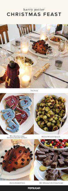 We grew up on the books; we've watched all the movies; we've visited all the theme parks; we've re-created all the recipes; so what's there left to do other than to throw an epic Harry Potter-themed Christmas party? From Mrs. Weasley's Christmas fudge to Hogwarts' cherry-studded ham and flaming Christmas pudding, this feast includes everything you need to feel like you're part of the wizarding world.