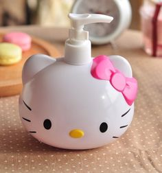 hello kitty liquid soap or lotion bottle Hello Kitty Bathroom, Hello Kitty House, Hello Kitty Items, Here Kitty Kitty, Hello Kitty Products, Decoracion Hello Kitty, Wonderful Day, Hello Kitty Accessories, Hello Kitty Collection
