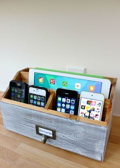DIY a Family Charging Station   - HouseBeautiful.com