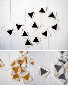 Banner of triangles. I like this modern take on bunting!