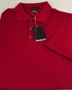 Nike Golf Men's Polo Shirt Size XXL 2XL Tiger Woods Collection Dri-Fit Red NWT #Nike #PoloRugby