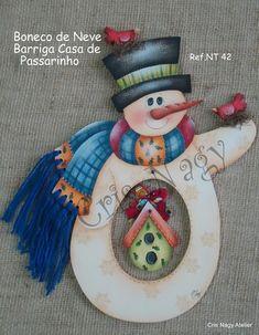 Boneco de Neve Barriga Casa de Passarinho NT42