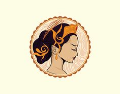 """Check out new work on my @Behance portfolio: """"Javanese Queen Logo"""" http://be.net/gallery/58961213/Javanese-Queen-Logo"""