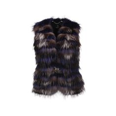Leather waistcoat with fur (6.409.740 IDR) ❤ liked on Polyvore featuring outerwear, vests, genuine leather vest, long vest, fox vest, fur vests and long waistcoat