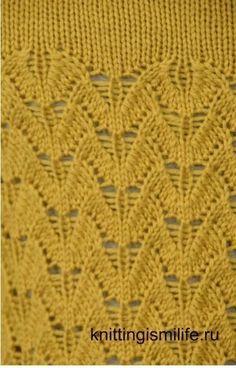 Красивый узор для женского вязания. Обсуждение на LiveInternet - Российский Сервис Онлайн-Дневников