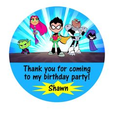 Teen Titans To Go Gift Tags, Teen Titans To Go, Birthday, Gift tags