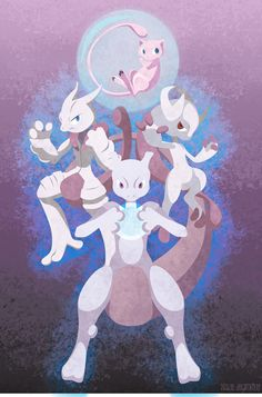 The Many Incarnations of Mew by m-dugarchomp.deviantart.com on @deviantART