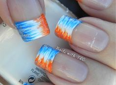 Denver bronco nails nails pinterest denver broncos nails gradient broncos nail art by tawnee l cordova i like this in a different color prinsesfo Gallery