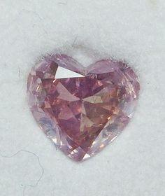 Purple Diamond - 0.83ct Fancy Pink Purple Diamond GIA 100% natural + Video
