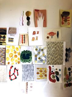 Donna Wilson is a Scottish textile designer, who studied Mixed Media and Constructed textiles at RCA. Her work with SCP includes Henry and Ernest pouffes. Scp, Textile Design, Gallery Wall, Watercolor, Holiday Decor, Frame, Home Decor, Pen And Wash, Picture Frame